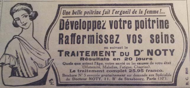 (pub dans un journal féminin, 1920)